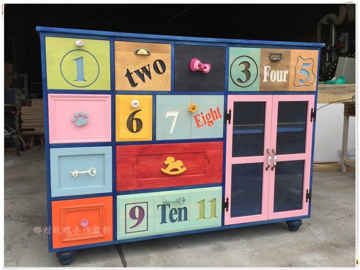 復古風多抽收納櫃 家具訂做 - 『鄉村玫瑰』室內裝修 商空設計