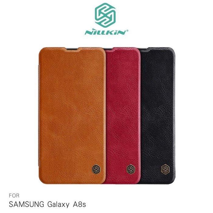 NILLKIN SAMSUNG Galaxy A8s 秦系列皮套 可插卡 側掀皮套 鏡頭保護【MIKO米可手機館】