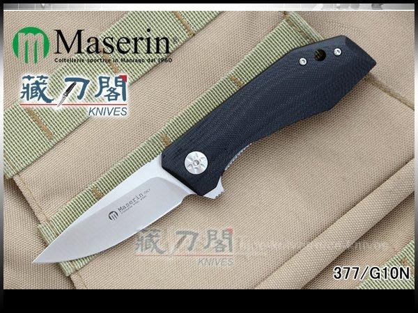 《藏刀閣》Maserin-(AM3)FLIPPER藍鈦背夾紳士折刀(黑色)