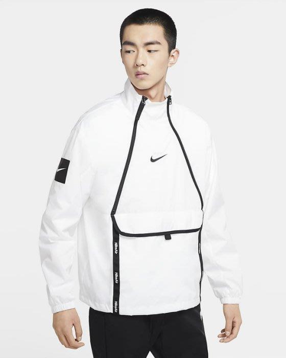 南◇2020 8月 NIKE 黑色Cu4119-010 白色 Cu4119-100 風衣外套 運動 套頭 立領口袋衝鋒衣