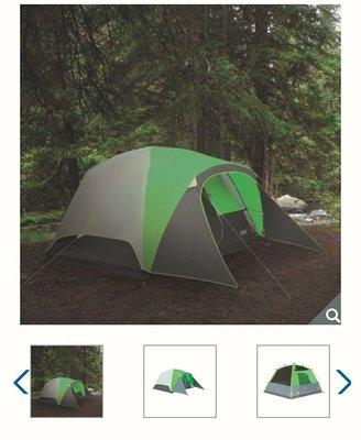 【多娜代購】Coleman 快搭式全罩型四人帳篷/專利骨架,一體成型接頭,附營釘、營繩、收納袋/WEATHERTEC 防風雨專利,風速56+ kph/好市多代購