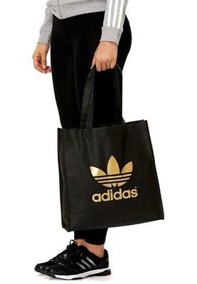 Sugar🍭Adidas Originals Trefoil Tote 黑金 紅色 寶藍 青綠 購物袋 托特包 肩背 苗栗縣