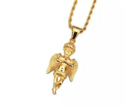 【Result】天使邱比特金項鍊 Cupid gold chain MC Hotdog 小春愛用款