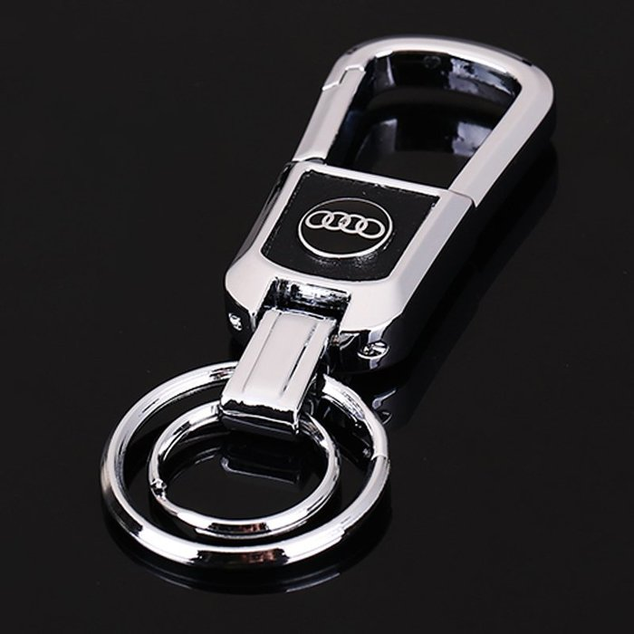 ⑦色花**奧迪Q3Q5Q7/A4A6A8汽車鑰匙扣保時捷賓士寶馬鑰匙扣雙環鑰匙圈鑰匙掛飾