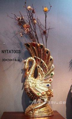 INPHIC-東南亞風格 現代時尚 歐式田園 泰國進口實木 大天鵝花瓶