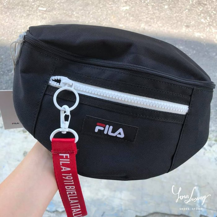 【Luxury】正品代購 FILA 斐樂 側背包 小方包 單肩包 腰包 斜跨包 男女款  肩背 斜背 logo 三色可選