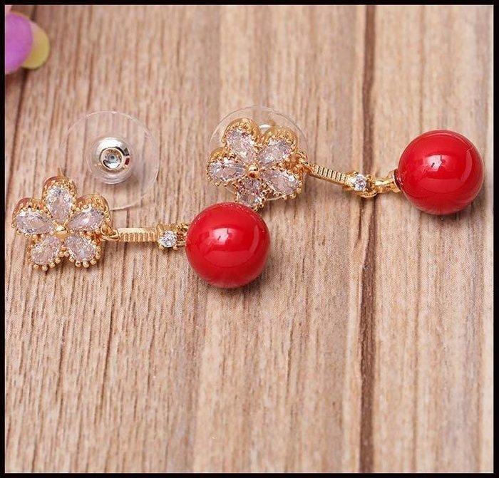 哆啦本鋪 新娘耳飾優雅氣質時尚可愛貝殼珍珠無耳洞耳夾式耳環D655