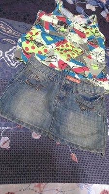 M號 牛仔短裙 窄裙  全新未穿 當2手稍稍便宜賣  3選1 (另賣場內有多款可挑 S號美妹參考)