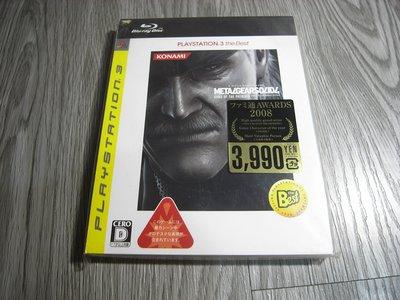 二手  PS3 潛龍碟影4 Metal Gear Solid 4 日文版 PS3 遊戲片