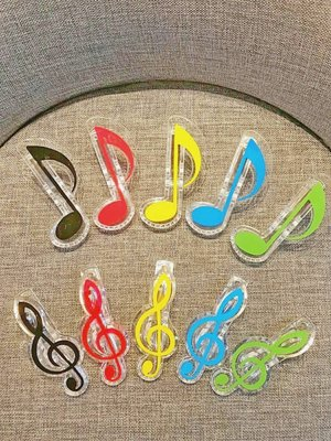 【老羊樂器店】音符造型 樂譜夾 夾子 譜夾 萬用夾 文具 八分音符