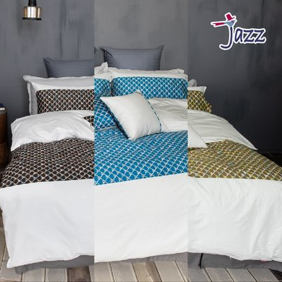 《40支紗》雙人加大床包/兩用被套/枕套/4件式【共3色】Jazz 100%精梳棉-麗塔寢飾-