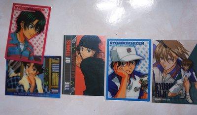 *日本動漫收集卡出清*網球王子 透明動畫卡片-日版收集卡-特價1組8張80元 龍馬 菊丸