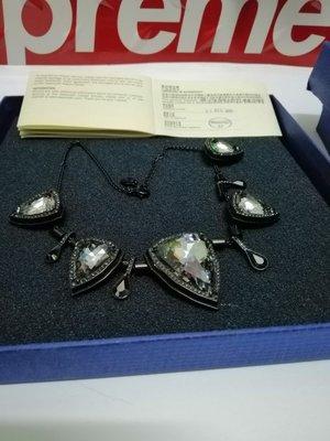 Swarovski Crystal SALOME Jet Black Hematite Silvernight 水晶鏈原價4000幾 全新連保養証1144341