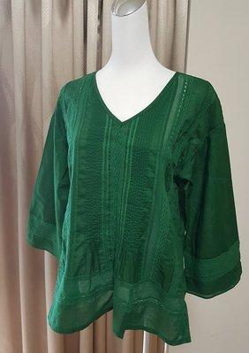 ♥出清 可純超取♥ 細緻蕾絲絲棉造型上衣(綠色現貨一) 正韓