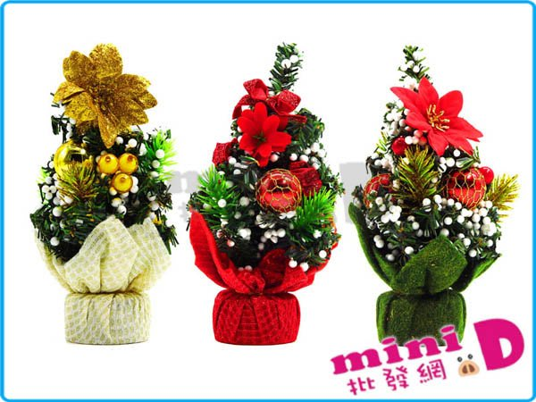 聖誕花盆(20cm) 佈置 裝飾 花盆 聖誕樹 桌飾 聖誕 禮物 玩具批發【miniD】 [7143100004]