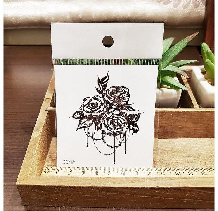 【萌古屋】】玫瑰珠寶 - 手背防水紋身貼紙刺青貼紙CD-114 K1