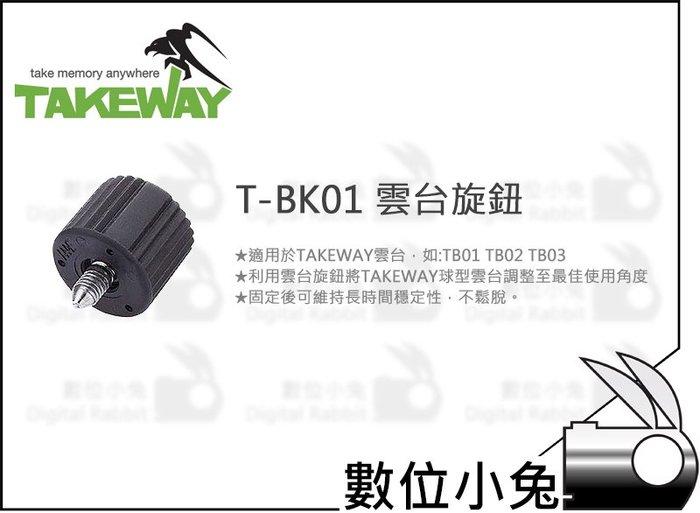 數位小兔【Takeway T-BK01 雲台旋鈕】TB01 TB02 TB03 配件 固定 T1 鉗式腳架