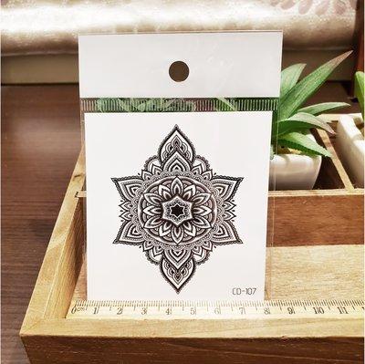 【萌古屋】】花朵圖騰 - 手背防水紋身貼紙刺青貼紙CD-107 K12