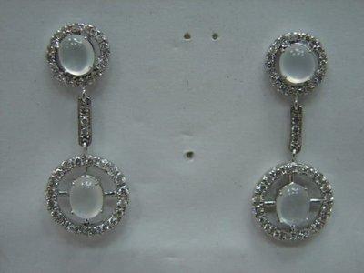 (( 當舖流當二手 )) 玻璃種 A貨 翡翠 鑽石 K金 耳環 喜歡價可議 或物品交換 PH034