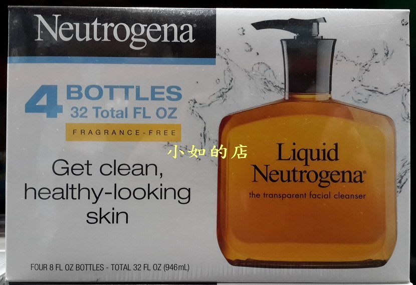 【小如的店】COSTCO好市多代購~NEUTROGENA 露得清 洗面露/洗面乳(236ml*4瓶)超取1-6組 60元