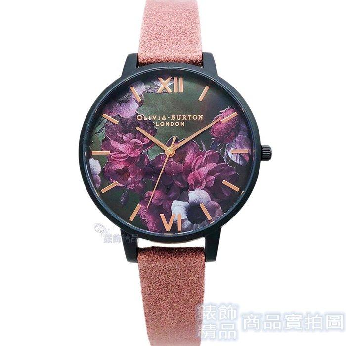 OLIVIA BURTON 手錶 OB16AD38 神秘愛戀 浪漫紫 甜美玫瑰色絨面皮帶女錶 38mm【錶飾精品】