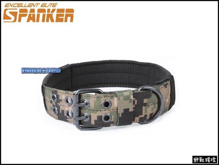 【野戰搖滾-生存遊戲】SPANKER 軍風狗狗項圈、加厚頸圈【AOR2】數位叢林迷彩項圈軍事犬戰術項圈