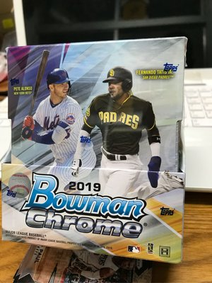 MLB 2019 Bowman Chrome Hobby 盒卡 Canario