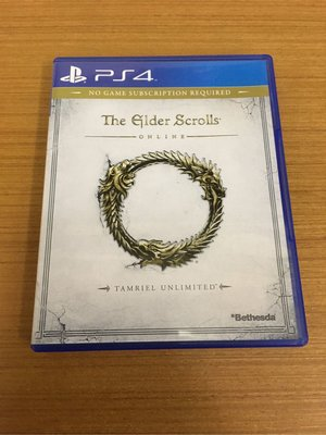 PS4 上古卷軸 Online The Elder Scrolls 無限泰姆瑞爾 英文 Tamriel Unlimited 光碟無刮