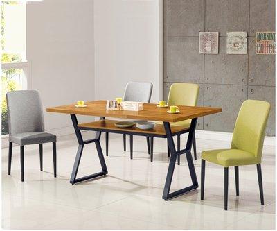 【南洋風休閒傢俱】餐廳家具系列-工業風木心板4尺柚木餐桌 餐桌 餐廳桌 (金609-5)