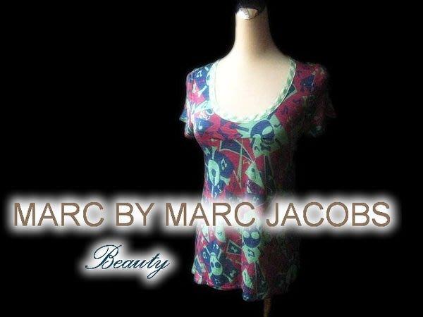 *Beauty*MARC BY MARC JACIBS綠色棉T恤 XS GR