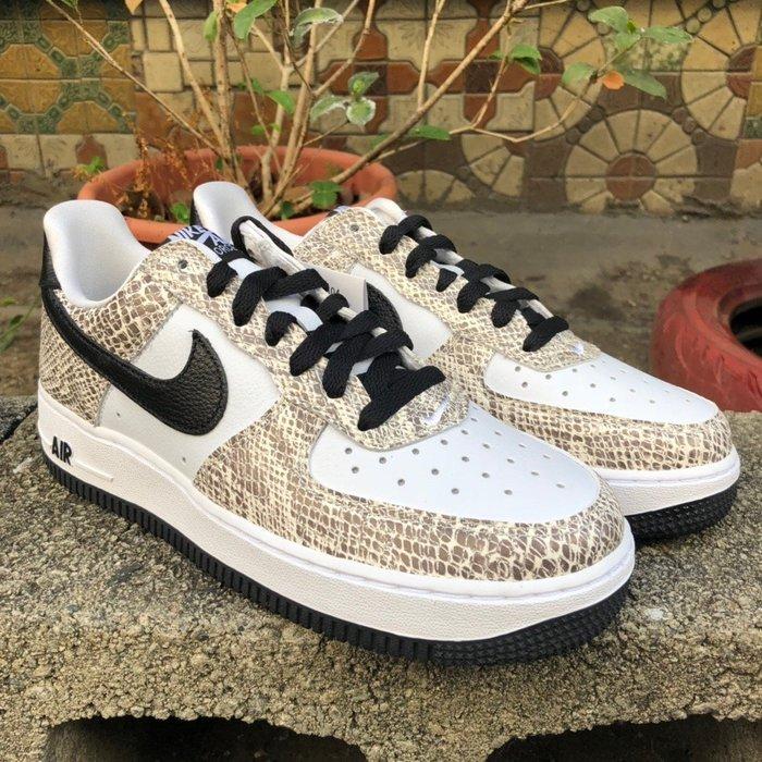 玉米潮流本舖 Nike Air Force 1 Low 845053-104 黑白 蛇紋 日本限定 籃球鞋