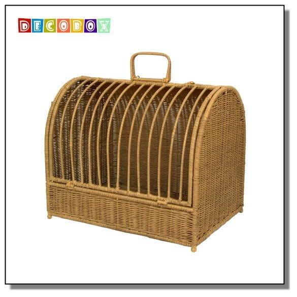 DecoBox溫馨藤編寵物提籃-大(寵物盤, 寵物窩, 寵物用品, 小貓小狗床,寵物籠)