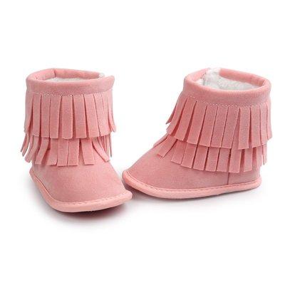 森林寶貝屋~粉色流蘇雪鞋~學步鞋~幼兒...
