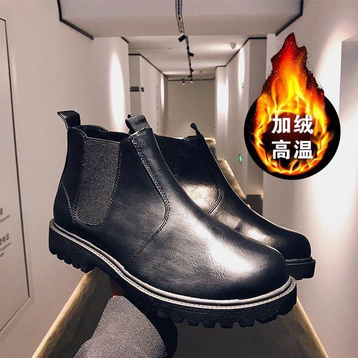 冬季復古高筒休閒皮鞋青少年懶人鞋時尚保暖潮流