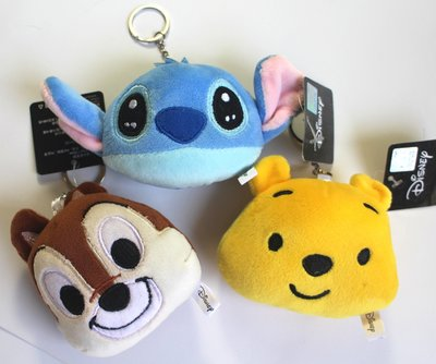 【卡漫迷】 迪士尼 玩偶 吊飾 三選一 ㊣版 鑰匙圈 絨毛娃娃 掛飾 史迪奇Stitch 奇奇Chip 小熊維尼Pooh