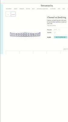 真品Tiffany &Co.  Celebration Ring 蒂芬妮鉑金/白金鑽石線戒