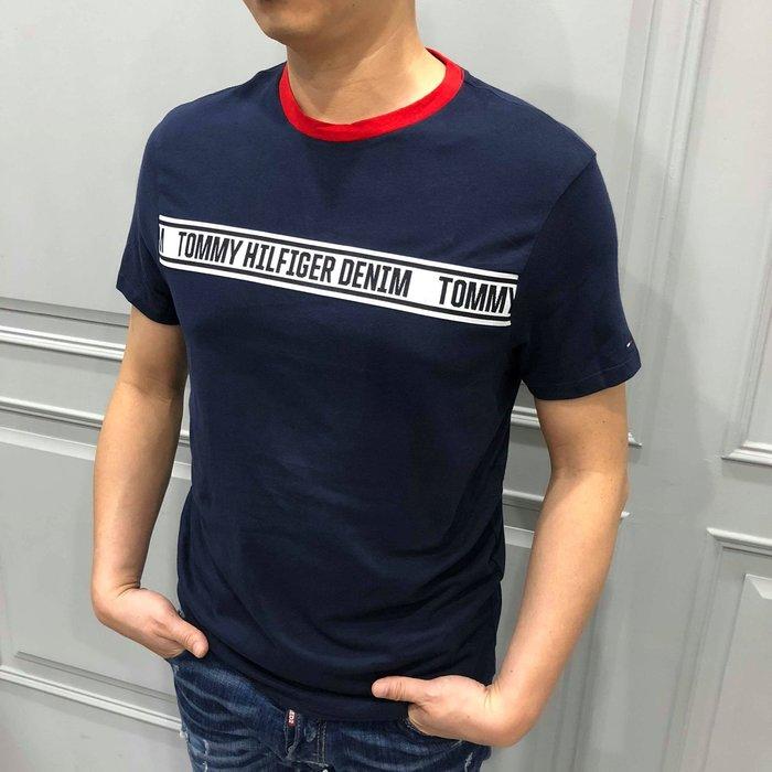 【現貨】 TOMMY 男生成人LOGO貼布短T 保證正品 歡迎來店參觀選購