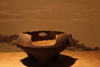 日本茶道具 破風炉 火鉢 火爐建仁寺銘 明治期(售出)