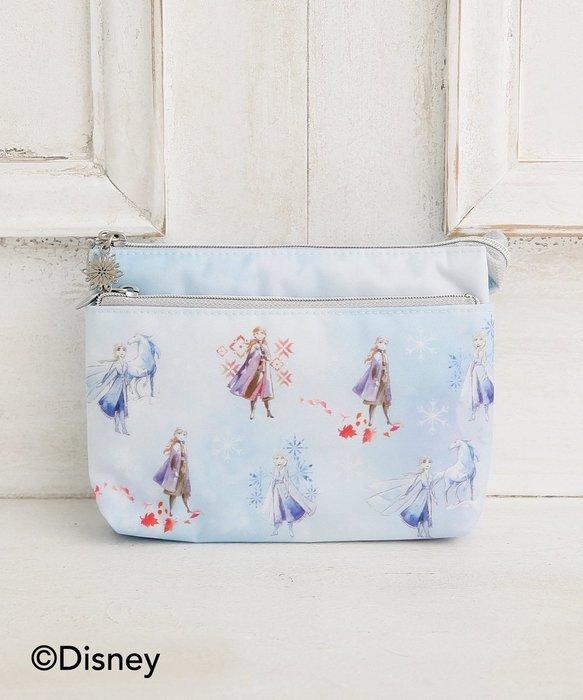 Ariel Wish預購日本Afternoon Tea冬季限量冰雪奇緣艾莎安娜雪寶雪人三層化妝包收納包鉛筆盒筆袋旅行包包