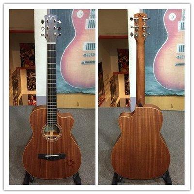 [分期零利率] 旅行吉他: AYERS 旅行吉他 T-03C小太陽 手工全單板吉他--高雄魔立