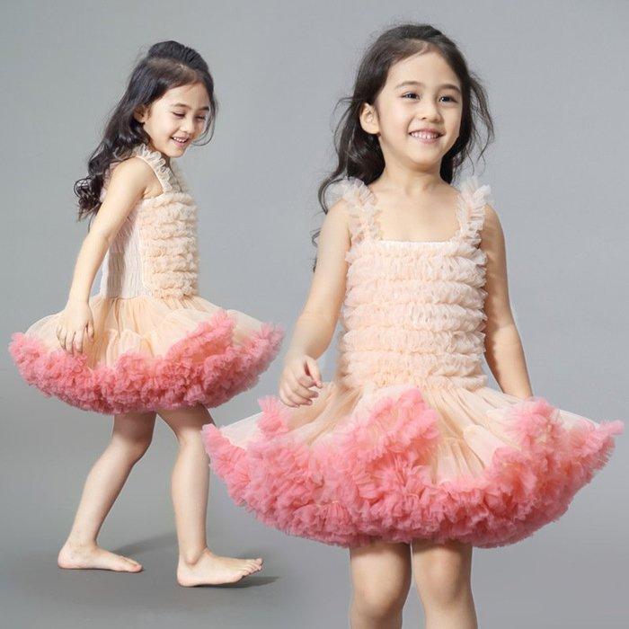 •*~ 辣媽咪衣飾小舖 ~*•❤童裝系列❤K970484韓版小童夏款甜美清新時尚蓬蓬蕾絲亮片可愛公主禮服公主洋裝