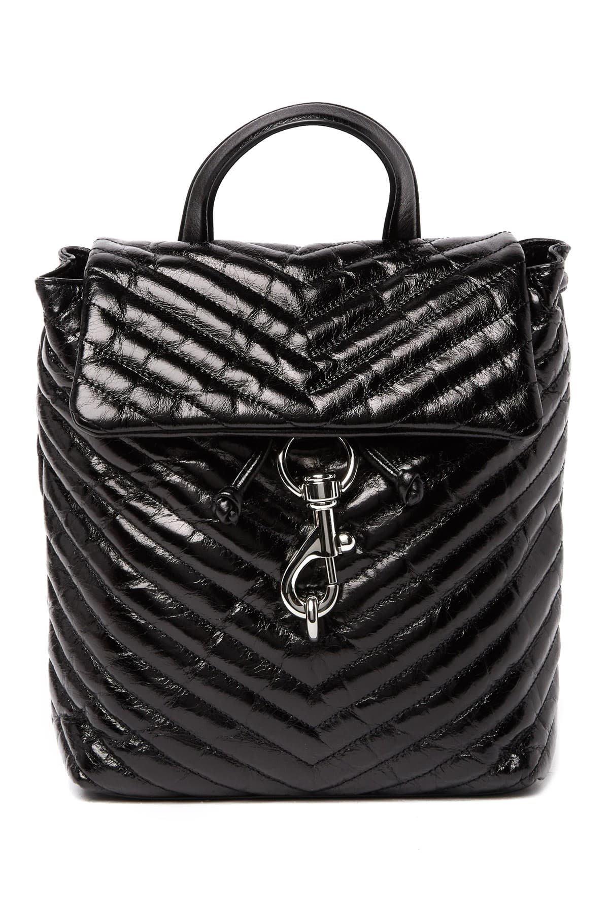 全新正品 Rebecca Minkoff Edie Quilted Leather Backpack 黑 後背包 油蠟皮