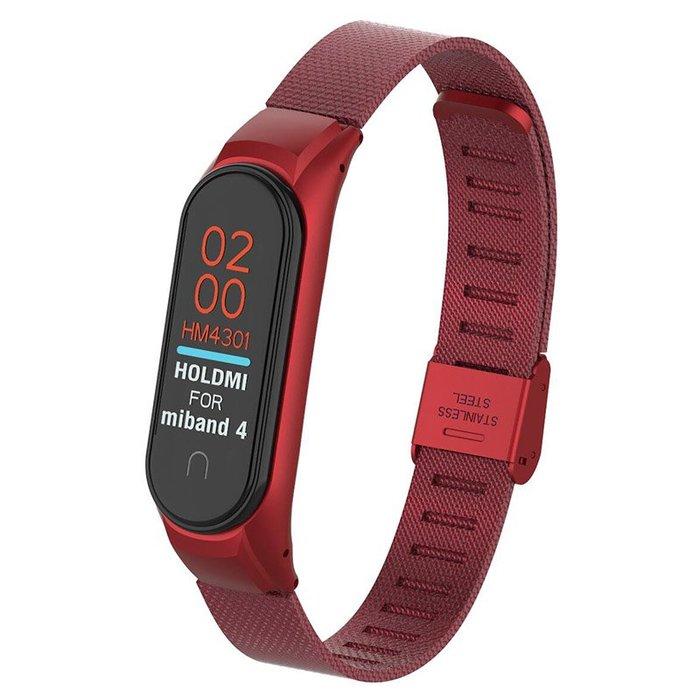 小米手環 4 腕帶 替換帶 不銹鋼四代 運動防水 金屬錶帶 米蘭尼斯 手環帶 米4 卡扣回環 男女款NFC版