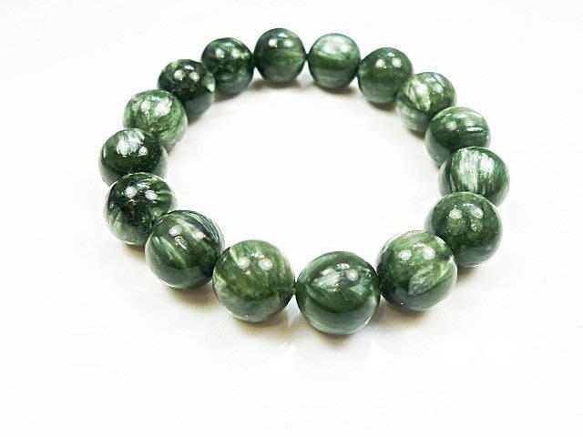 ((上品堂))頂級天然綠龍晶手珠,重38克.增強並活絡七輪的能量