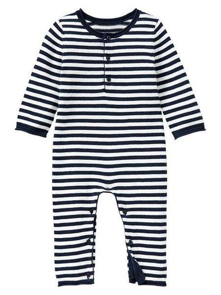 【BJ.GO】美國GAP童裝 baby_Striped sweater one-piece 帥氣GAP條紋針織連身裝/兔裝 新品現貨