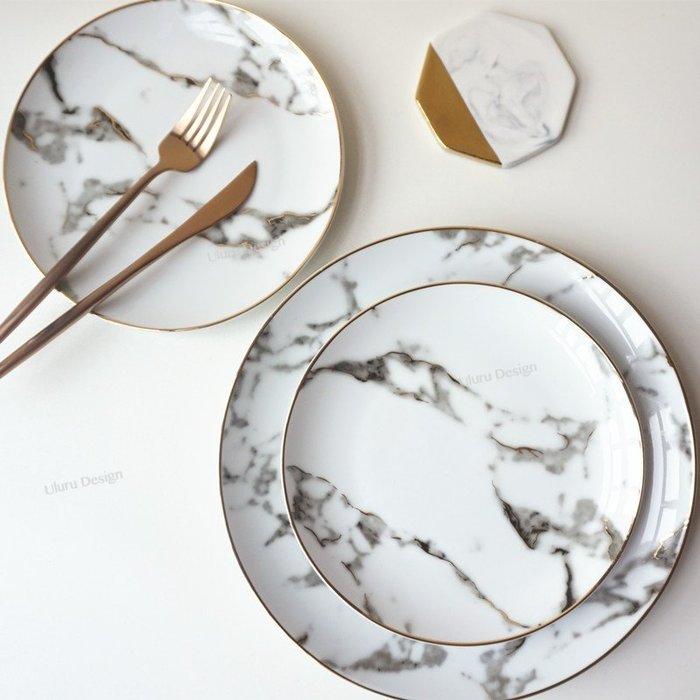 北歐 白大理石盤 超美大理石紋 陶瓷盤 蛋糕盤 甜點碟 早餐盤 創意 美食攝影 歐式 美食部落客 小碟子 盤子 碟子