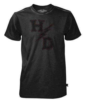 Harley-Davidson 黑標1號 哈雷機車 美國製造 lightning bolts 短袖T恤 仿舊 S M