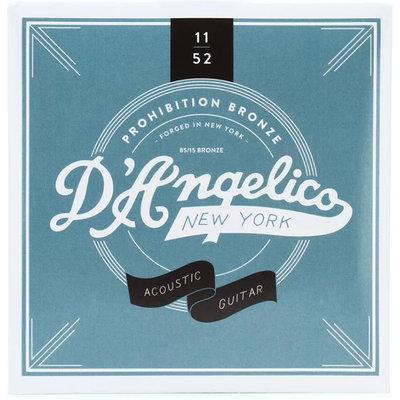 《民風樂府》DAngelico Prohibition Bronze 11-52 木吉他弦 85/15混銅材質 公司貨