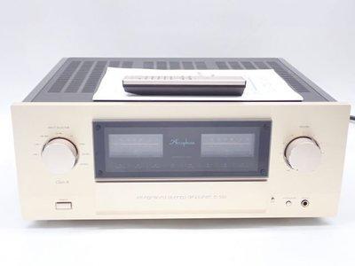 【比比昂.擴大機】Accuphase アキュフェーズ プリメインアンプ E-550 元箱/説明書/リモ