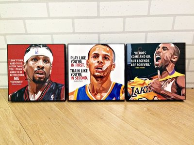 / 現貨 /泰國設計師畫框 NBA系列 KOBE IVERSON CURRY 收藏 佈置家裡 送禮都很適合 現貨在店